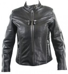 Women's Black and Silver Multi Vented Motorcycle Jacket B7065