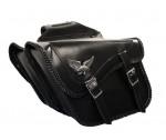 Waterproof Slant Eagle Braided Classic Motorcycle Saddlebags X850