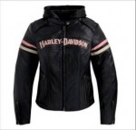 Harley-Davidson Womens Miss Enthusiast 3 in 1 Leather Jacket Pink