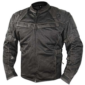 Xelement All Season Tri-Tex and Mesh Black Jacket XS8160
