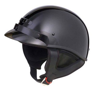 GMax GM35X Solid Half Helmet - Fully Dressed