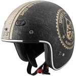 Speed and Strength Speed Shop Men's SS600 Open Face Motorcycle Helmet - Black/Gold