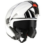 Hawk GLD-915 Black Stripes White Modular Helmet