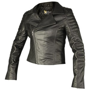 Xelement Womens Vixen Black Leather Jacket XS-933