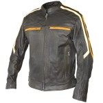 Xelement 'Classic Cafe Racer' Mens Leather Jacket BXU1844