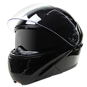 Hawk EVX 9025 Gloss Black Modular Helmet