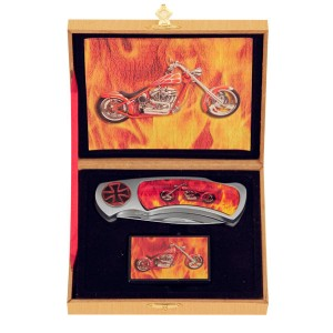 Motorcycle Flame Knife and Lighter Set KV3055