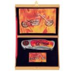 Motorcycle Flame Knife and Lighter Set KV3055