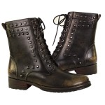 Xelement Mens Slayer Stud Leather Boots LU9035