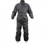 Xelement Men's 2 Piece Black Motorcycle Rain Suit with Boot Strap RN4760