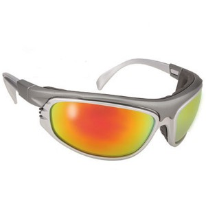 Airfoil 9120 Silver/High Tech Motorcycle Sunglasses with Extra Clear Lenses