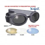 Airfoil Black Goggles With Interchangeable Polycarbonate Lenses 7600