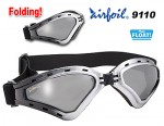Airfoil Black Silver Foldable Silver Goggles With Silver Mirror Lens and UV 400 Protection 9110