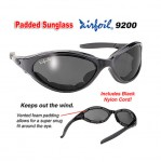 Airfoil Black Sunglasses with Smoke Lens And UV 400 Protection with Padded Frame 9200