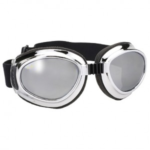 Airfoil Chrome Goggles with Silver Mirror Lens UV 400 Protection 8010