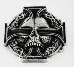 New Iron Celtic Cross Demon Evil Devil Skull Tattoo Biker Buckle