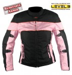 Xelement-Ladies-Black-and-Pink-Tri-Tex--Fabric-Motorcycle-Jacket-with-Level-3-Advanced-Armored-CF-462