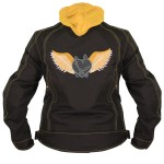 Xelement Women's Tri-Tex Yellow Flying Barbwire Heart Jacket 3583.13