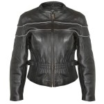 Xelement XS-7035 Women's Premium Leather Motorcycle Jacket with Level-3 Advanced Armor