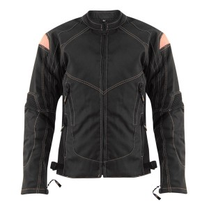 Xelement Women's Guardian Black/Pink Tri-Tex Jacket XS-123-330