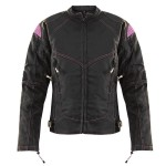 Xelement Women's Guardian Black/Purple Tri-Tex Jacket XS-123-325