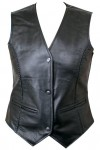 Ladies Leather Braided Vest 206