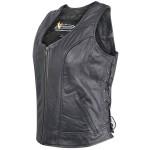 Xelement B-21519 Womens Biker Leather Vest