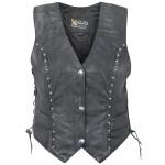 Xelement XS-628 Womens Studded Biker Leather Vest  XS-628