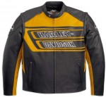 Harley-Davidson® Men's Marker Yellow Leather Jacket 97086-12VM