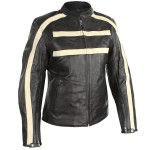 Xelement Women's Racer Striped Motorcycle Jacket XS-782