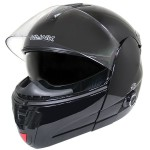 Hawk H-6607 Glossy Black Dual-Visor Modular Motorcycle Helmet with Bluetooth