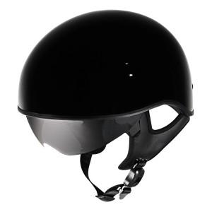 Outlaw V5-10 Glossy Black with Visor Motorcycle Half Helmet