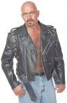 Leather Motorcycle Jacket with Removable Sleeves M2601ZCC