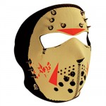Glow in the Dark Jason Neoprene Full Face Mask with Spikes WNFM213GSP