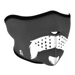 Glow in the Dark Mo Scruffy Neoprene Half Face Mask WNFM174HG