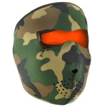 Woodland Camo Reverse to High-Vis Orange Neoprene Full Face Mask WNFM118HV