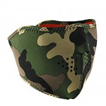 Woodland Camo Reverse to High-Vis Orange Neoprene Half Face Mask WNFM118HHV