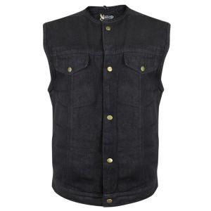 Xelement Men's Black Denim Gun Pocket Vest DM-X2239