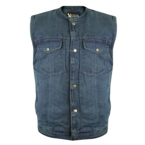 Xelement Men's Blue Denim Gun Pocket Vest DM-X2238
