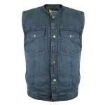 Xelement Men's Blue Denim Gun Pocket Vest DM-X2238