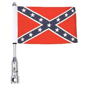 Motorcycle Flagpole Mount and Rebel Flag