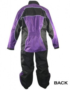 Xelement Ladies 2 Piece Black and Purple Motorcycle Rain suit RN4764