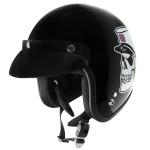 Outlaw V320 Dixie Skull Motorcycle Open Face Helmet