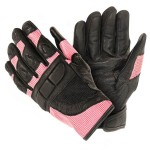 Xelement Women's Cool Rider Black/Pink Mesh Motorcycle Gloves XG-802-06
