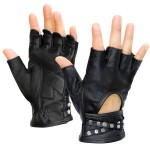 Xelement Women's Idol Fingerless Leather Gloves XG-461