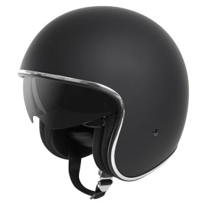 Outlaw V5 Flat Black with Visor Open Face Helmet