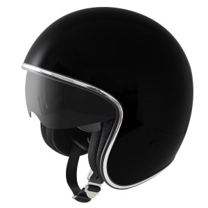 Outlaw V5 Glossy Black with Visor Open Face Helmet