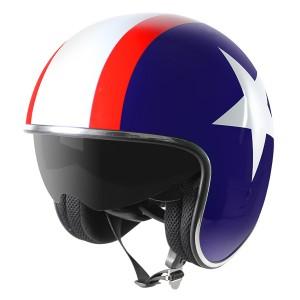 Outlaw V5 Rebel Star with Visor Open Face Helmet
