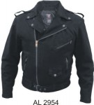 Men's Black Denim Motorcycle Jacket AL2954