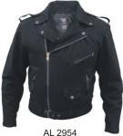 Men's Black Denim Motorcycle Jacket AL2954